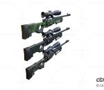 次世代 3D模型 枪 多把各色狙击枪 冲锋枪