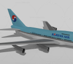 韩国航空747SP 波音 中国空中客机 民航 运输机 大型客机
