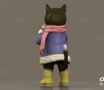可爱猫咪 小猫吃包子 拟人猫咪 动物 猫咪手办