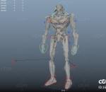 PBR 高品质 机器人 格斗 战争 写实 科幻 带骨胳