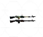 次世代 3D模型 枪 大容量大口径冲锋枪