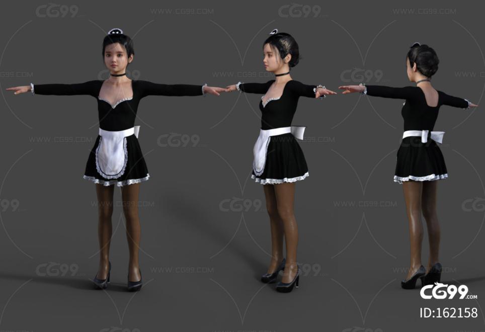 可爱女仆装 美少女 演出服 咖啡服务员女仆装 cosplay 服装
