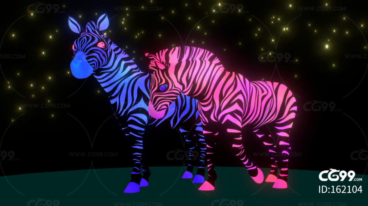 PBR-梦幻发光斑马
