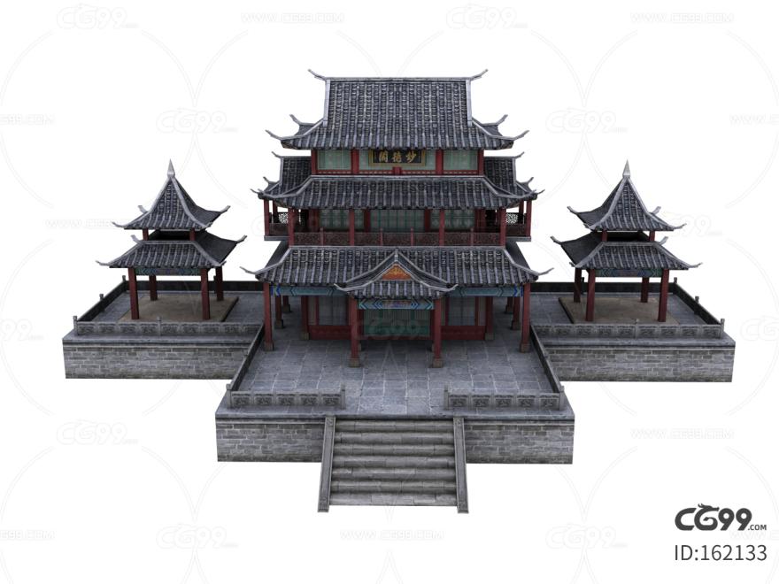 写实游戏 仙侠场景 古代楼阁