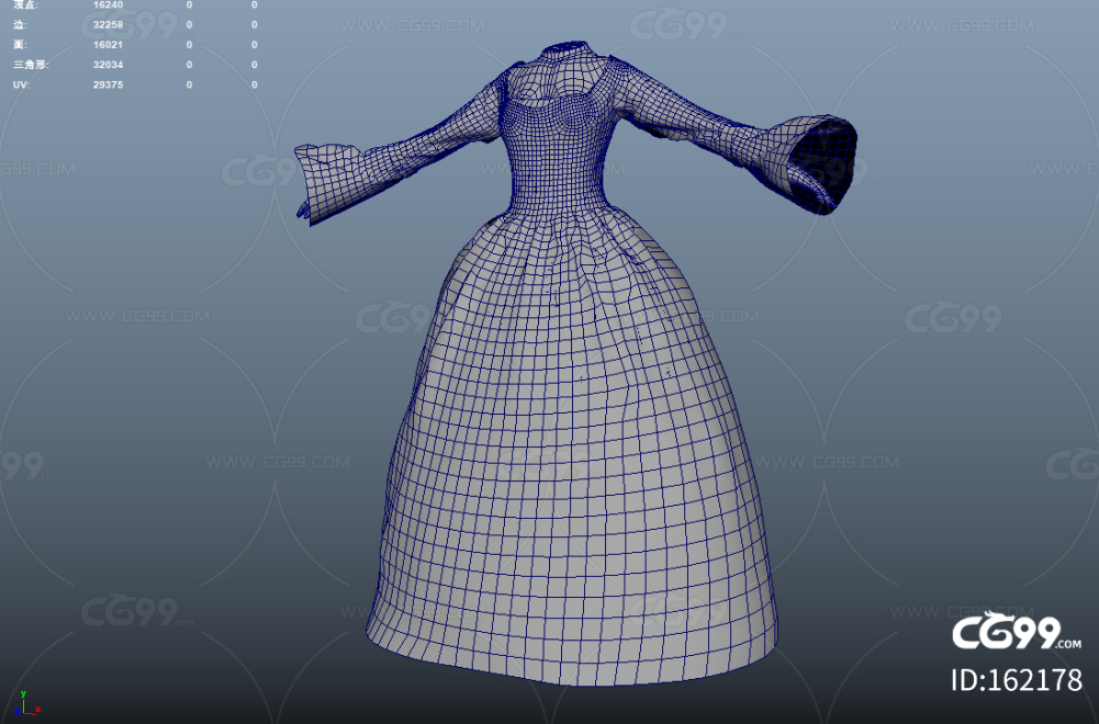 PBR 高品质 女士黑色礼服 优雅 裙子 写实