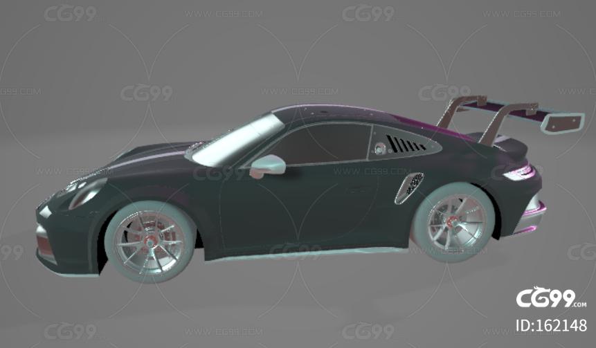 保时捷911 GT3 CUP 2021真实汽车高质量3D模型