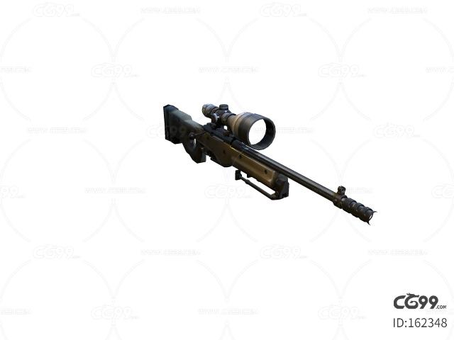 次世代 3D模型 狙击枪冲锋枪