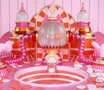 粉色系 淘币 游戏机 反应炉 传送带 C4D 蒸汽朋克 机械 电商 广告 海报 栏包