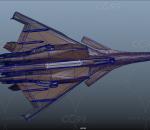 科幻战机 美国空军战斗机 新型未来隐身战斗机 隐身军用战机