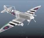 二战战斗机 老式飞机 超级马林喷火螺旋桨飞机 雅克战斗机