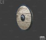 PBR中世纪 斯巴达盾牌 木质盾牌 圆形盾牌 防具