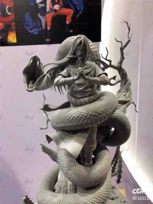 火影忍者 大蛇丸 打印 zbrsuh高模