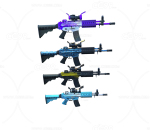 次世代 3D模型 多把未来高科技冲锋枪
