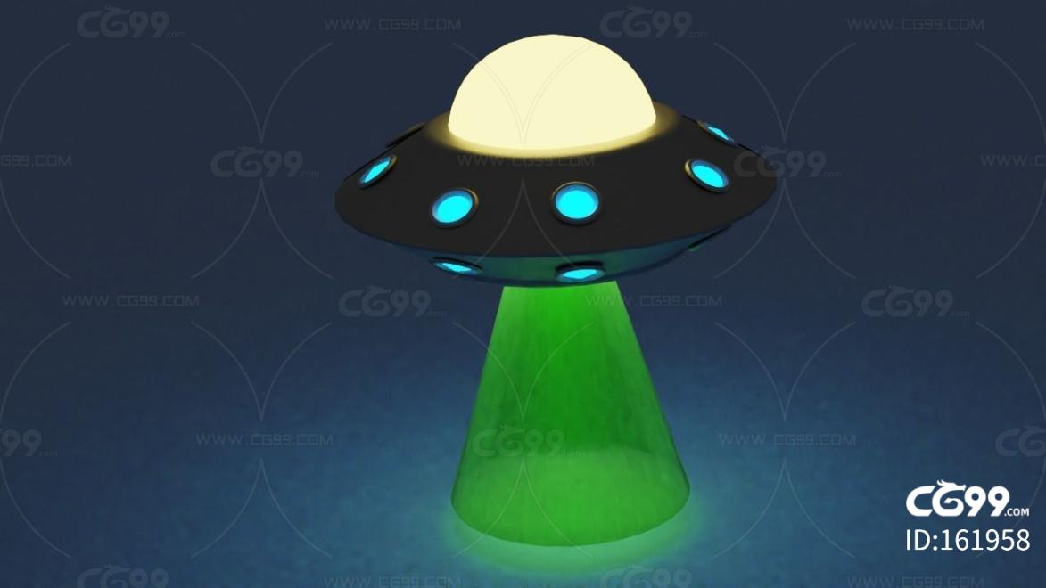 lowpoly低聚卡通UFO 科幻 次时代