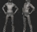 高品质 雕塑 赛博朋克 强尼手银 打印 写实