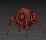 PBR 高品质 蜘蛛机器人 科幻 写实 智能机器 未来