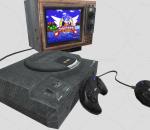 PBR-复古的电视机 游戏机