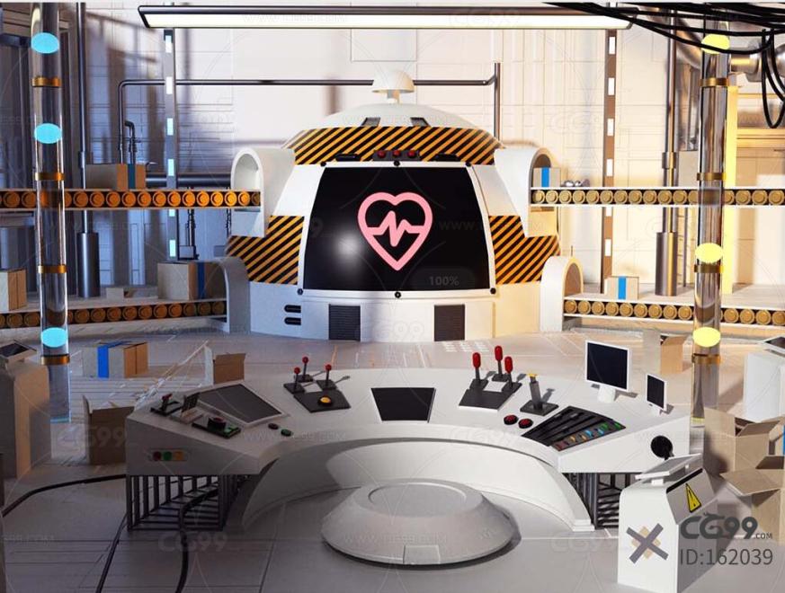 科研 实验室 流水线 工厂 栏包 广告 科幻 赛博朋克实验室 研究中心 反应炉