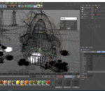 梦幻森林 C4D创意 森林卡通场景 海报元素 游戏场景 植物 小屋 唯美场景 蘑菇场景 Q版场景