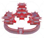 故宫 太和殿 古建 皇宫 大殿 台阶雕塑采用置换贴图