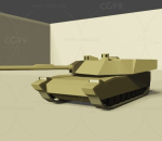 lowpoly低聚M1A1坦克