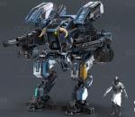 PBR 高品质 战争机器 蓝色 科幻 装甲 未来 写实
