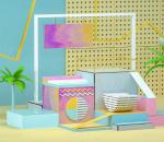 美陈展示场景 电商产品展示 几何 展示背景 海报背景 舞台背景 礼品盒 画框 广告