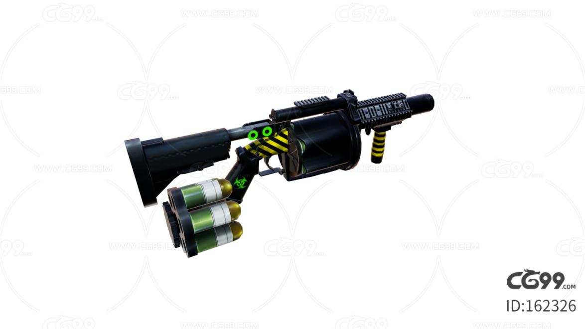 次时代 3D模型   枪  散弹枪  弹夹  写实