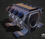 汽车引擎 汽车发动机 汽车零件 8缸发动机 电喷发动机 电控汽油 机械涡轮 增压器turbo 涡轮增