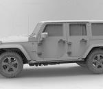 吉普牧马人Jeep Wrangler真实汽车高质量3D模型