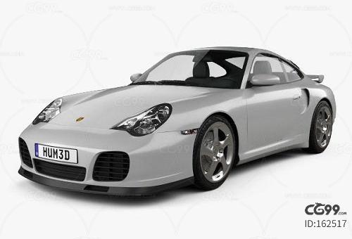 Porsche 911 Turbo Coupe (996) 2000 3D model保时捷911汽
