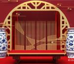 私塾 学堂 春节 红色 国潮 简约 中式 家居 书案 讲堂 古风 讲坛 新年