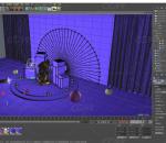 C4D紫色神秘风格产品展台 雕塑 紫金