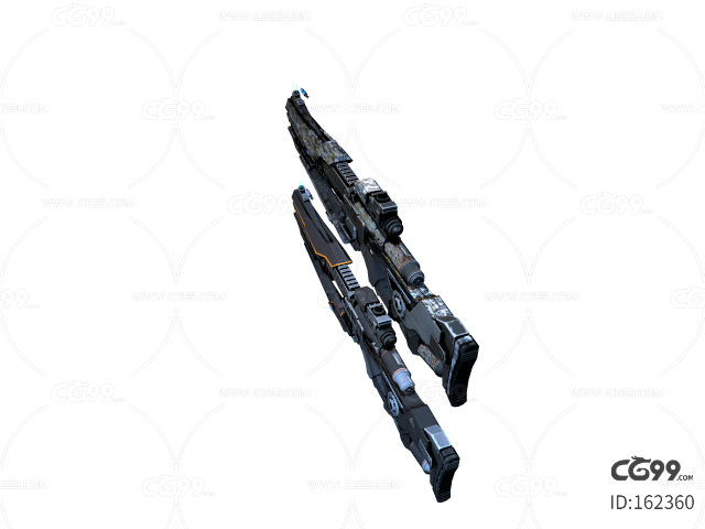 次世代 3D模型 科幻未来冲锋枪