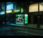 赛博朋克城市  街区  街道