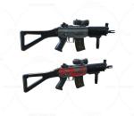 次世代 3D模型 枪 自动步枪冲锋枪 写实