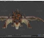 飞龙恶龙火龙CG模型