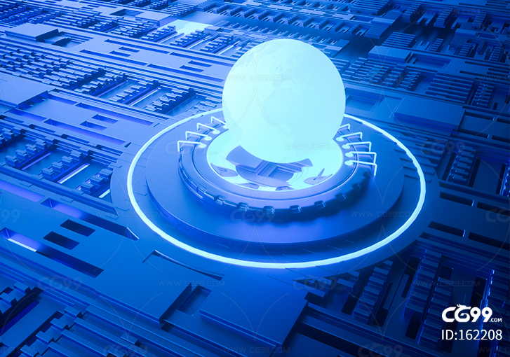 地球 科技 芯片 栏包 广告 科幻 未来 电子 广告 海报 电商 背景