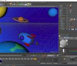 卡通太空 宇宙飞船 C4D模型 飞行器 星球 Q版 lowpoly 宇航员 火箭