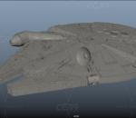 星球大战 千年隼 千年鹰 宇宙飞船 星际飞船 科幻飞船 外星飞船 星际飞行器