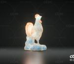十二生肖 鸡 鸡形灯 花灯鸡 花灯 发光鸡 卡通鸡 纸鸡 新年 元宵节 LED 个性灯