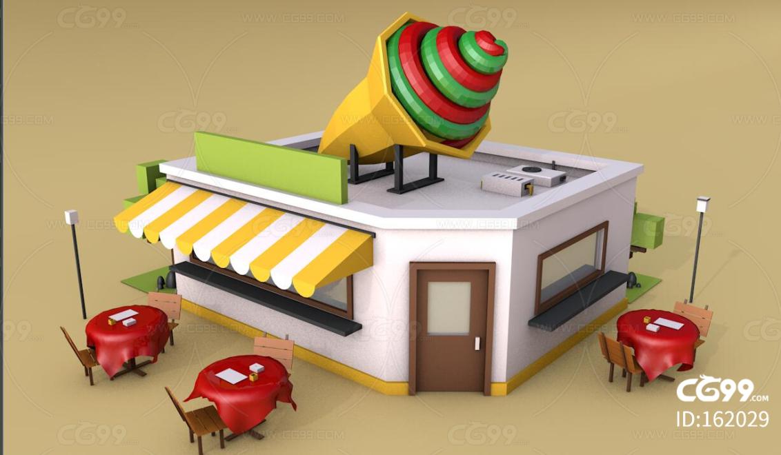 冰淇淋屋 甜点屋 甜筒 雪糕店 冰城 冰激凌 奶茶店