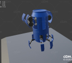 lowpoly易拉罐机器人炮塔