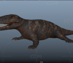大蜥蜴 侏罗纪食肉恐龙 肉食远古爬行动物 有毒的远古古代蜥蜴