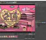 情人节 展台 dp点 爱心美陈 214 粉色 粉红 礼物 摆件 气球
