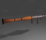 lowpoly火箭筒RPG 武器 发射器