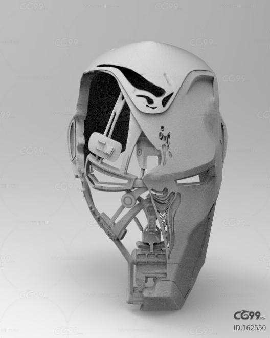 钢铁侠战损面具 打印文件 3D模型