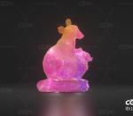 鼠 鼠形灯 花灯鼠 花灯 发光鼠 卡通鼠 纸鼠 十二生肖