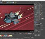 飞船 C4D 模型 飞行器 模型 卡通 火箭