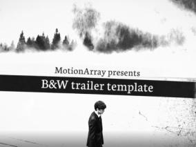黑白风格预告片 视频模板